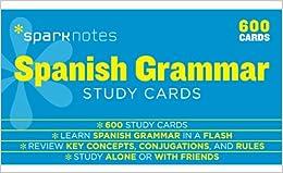 Spanish Grammar Sparknotes Study Cards Descargar ebooks Epub