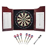 Best Dart Board Cabinets - GSE Games & Sports Expert Solid Mahogany Wood Review