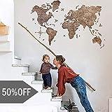 Wood World Map Wall Art. Large Wall Decor - World