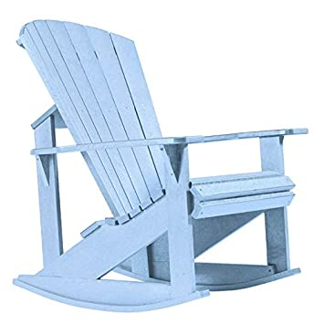 CR Plastic Generations Recycled Plastic Adirondack Rocking Chair