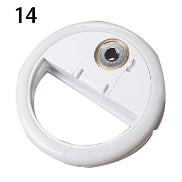 Danigrefinb Accesorios para teléfono Externo Anillo LED Universal Selfie teléfono cámara Flash luz de llenado con Lente de Espejo de Maquillaje: Amazon.es: ...