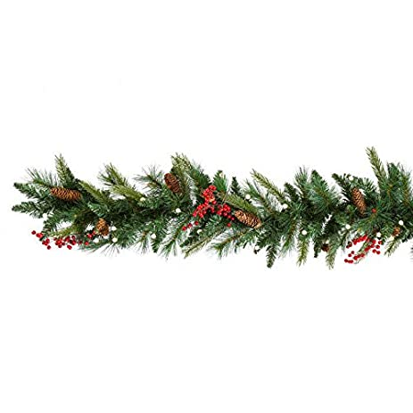 cordless pre lit cone berry christmas garland - Cheap Christmas Garland
