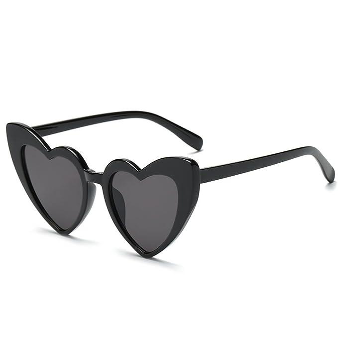 attachmenttou Lunettes de soleil Lunettes de soleil rétro PC Coeur d'été Eye Protector pqWjd