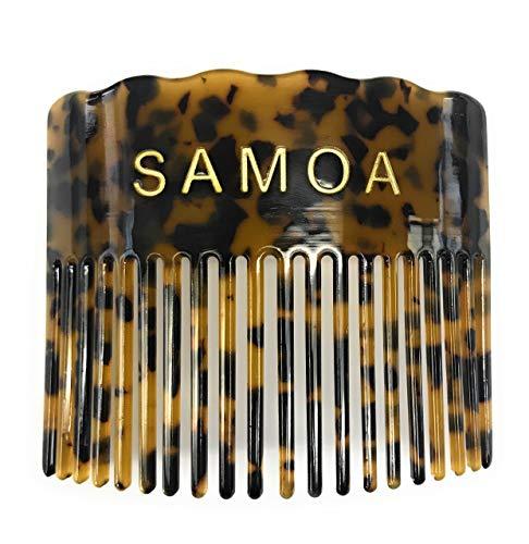 (Hawaiian Samoan Faux Turtle Shell Comb - SAMOA)