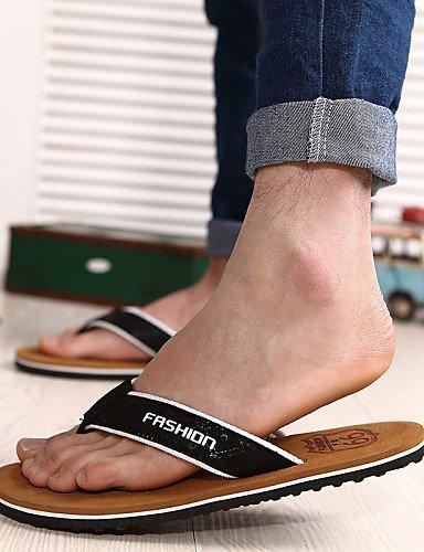 NTX/ Men's Shoes Outdoor / Casual Fabric Flip-Flops Black / Brown black-us7.5 / eu39 / uk6.5 / cn40 XSRfoQ4ws