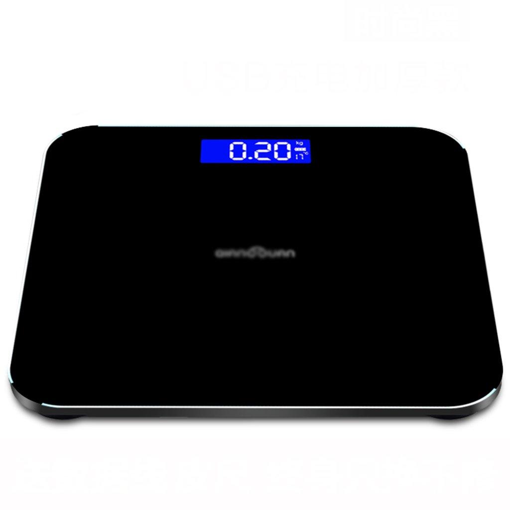 Escala de peso DWW Báscula de Peso Sensor de Gravedad Elegante Cuerpo Humano doméstico Recargable para Adelgazar Alta precisión Pantalla Digital Extra ...
