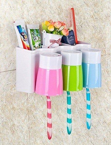 qinmanli baño Set cepillo de dientes titular Wash Gargle Suit creativos accesorios de baño Set de baño de plástico caja de almacenamiento: Amazon.es: Hogar