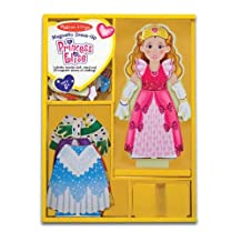 Princess Elise - Magnetic Dress Up Wooden Doll & Stand + FREE Melissa & Doug Scratch Art Mini-Pad Bundle [35538]