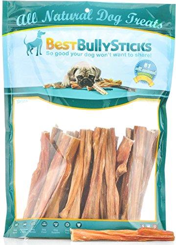 Best Bully Sticks 100% Natural 5-6 Inch Junior Beef Bladder Sticks (30 Pack) Dog Treats