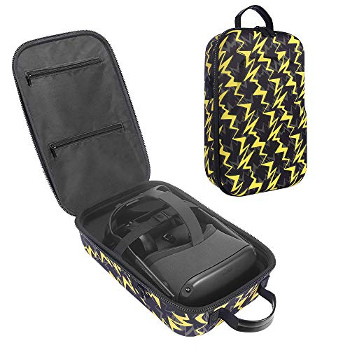 Esimen Fashion Travel Case for Oculus Quest 2/Quest VR Gaming Headset and Controllers Accessories Carrying Bag (Yellow)