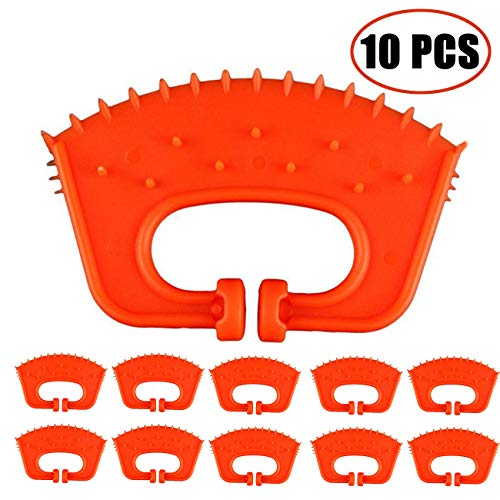 TIHOOD 10PCS Calf Weaner Cattle Cow Weaning Tool Farm Livestock Bovine Nose Clip Milking Stop