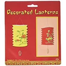 Beistle 50476 2-Pack Chinese Lanterns, 6 by 9-Inch