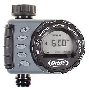 Orbit Digital Hose Sprinkler Irrigation Timer for Vacation Lawn, Plant, and Garden Watering (1 Valve)