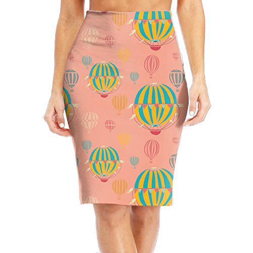 Hot Air Balloon Ride Costume (Hot Air Balloon Ride Women's Sexy Party Skirt Pencil Skirt Plain Skater Tight Size L)