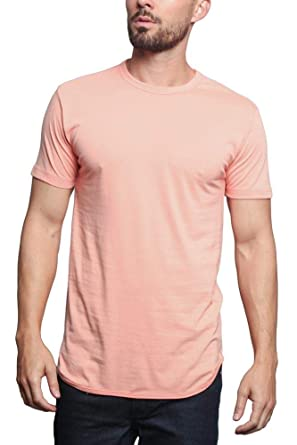 1adda36ee0652 Victorious Solid Color Long Length Curved Hem T-Shirt TS270 - Coral - 4X-