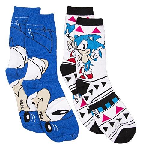 Womens Sonic The Hedgehog 2pk Socks (Female Sonic The Hedgehog)
