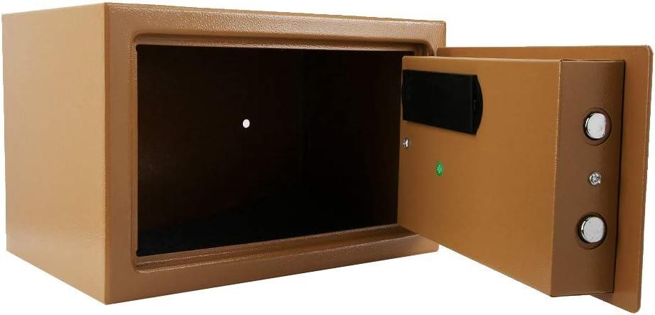 Caja de Seguridad de Contrase/ña Electr/ónica Caja Fuerte Digital con 2 Llaves Anti-Taladro y Anti-Palanca Bloqueo Autom/ático para Hotel Empresa Dormitorio