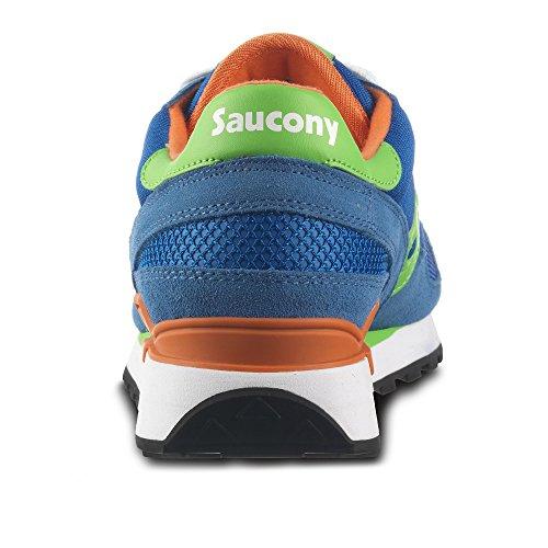 Saucony Shadow Original Uomo, Sneaker Bassa Blue/Limone/Arancio