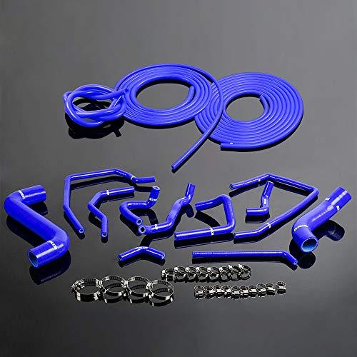 Silicone Radiator Coolant Hose Kit Clamps +Vacuum Hose Tube For Subaru Impreza WRX GDA/GGA STi GDB/GGB EJ20 2002-2007 Blue
