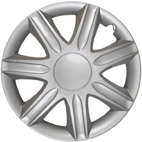 4 Tapacubos Tapacubos tipo Rubin Plata apta para Land Rover 15 pulgadas Llantas de Acero: Amazon.es: Coche y moto