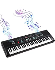 $44 » 61 Keys Keyboard Piano, Electronic Digital Piano with Built-In Speaker Microphone, Portable Keyboard Gift Teaching for Beginners,piano keyboard for kids