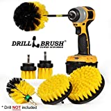 Drillbrush Ultimate Grout Cleaning Kit with Long Reach Extension - Shower Curtain - Bath Mat - Bathroom Cleaner - Drill Brush - Tile and Grout Cleaner - Bathtub, Shower, Sink, Toilet, Bidet, Flooring