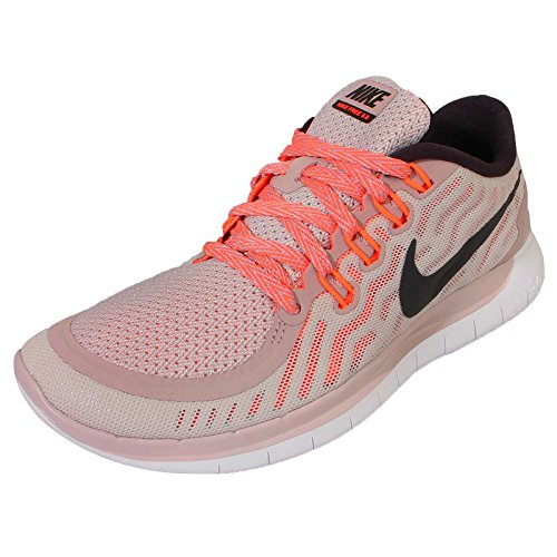 Nike Womens Wmns Free 5.0, Fiolett Aske / Svart-hvitt-hyper Oransje, 11,5 Oss