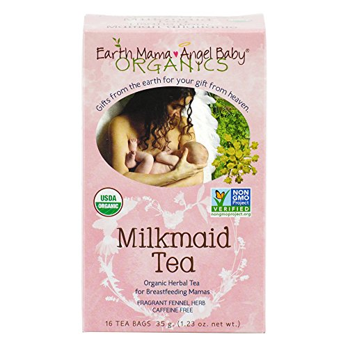 Earth Mama Angel Baby Organic Milkmaid Tea for Nursing, Lactation & Breastfeeding to Safely Support Breast Milk and Increase Mother's Milk, 16 Teabags/Box (Pack of 3) (Earth Mama Milkmaid Tea)