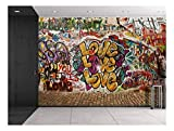 Best Wall Murals - wall26 - Colorful Graffiti - Large Wall Mural Review
