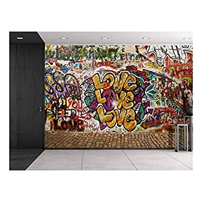 Colorful Graffiti Large Wall Mural Removable Peel and Stick Wallpaper, Quality Creation, Handsome Piece