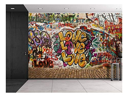 (wall26 - Colorful Graffiti - Large Wall Mural, Removable Peel and Stick Wallpaper, Home Decor - 66x96 inches)