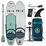 PEAK Paddle Boards PEAK Inflatable 10'6 All Around Stand Up Paddle Board Complete Package (6