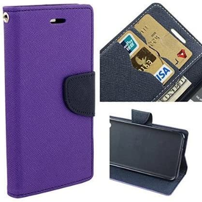 Sparkling Trends Mercury Goospery Fancy Diary Wallet Flip Cover Case for Samsung Galaxy On Nxt Purple Mobile Phone Cases   Covers