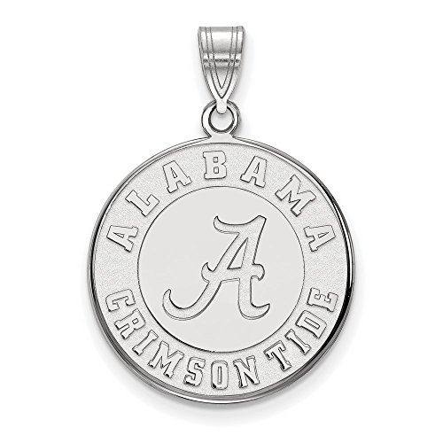 University of Alabama Crimson Tide Large Disc Pendant in Sterling Silver 4.01 gr (Alabama Pendant Sterling Silver Jewelry)