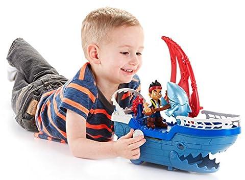 Fisher-Price - Disney Captain Jake and the Never Land Pirates - Shark Strike Sea Ship (Buccaneer Battling Jake)
