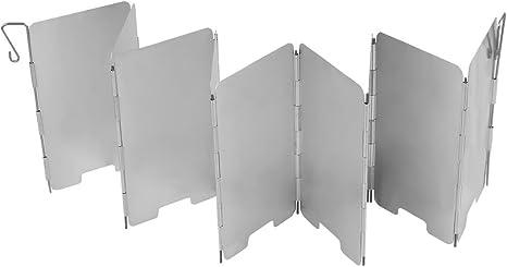 Uni Coco Outdoor Camping Plegable de Aluminio – Paravientos para hornillo de Gas con láminas de 9 de Ultra