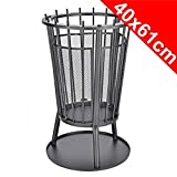 Metal Garden Fire Pit Basket BBQ Patio Heater Log Wood Charcoal Burner Brazier