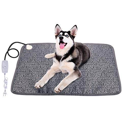 - BIGWING Style Pet Heating Pad, Electric Heater Bed Pet Warming Mat for Cats and Dogs with Chew Resistant Steel Cord(28x19 inch)