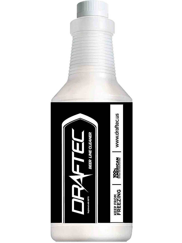 Draftec ACT222-1 Advanced Keg Draft Beer Line Cleaner - 32 oz. Bottle - Clear
