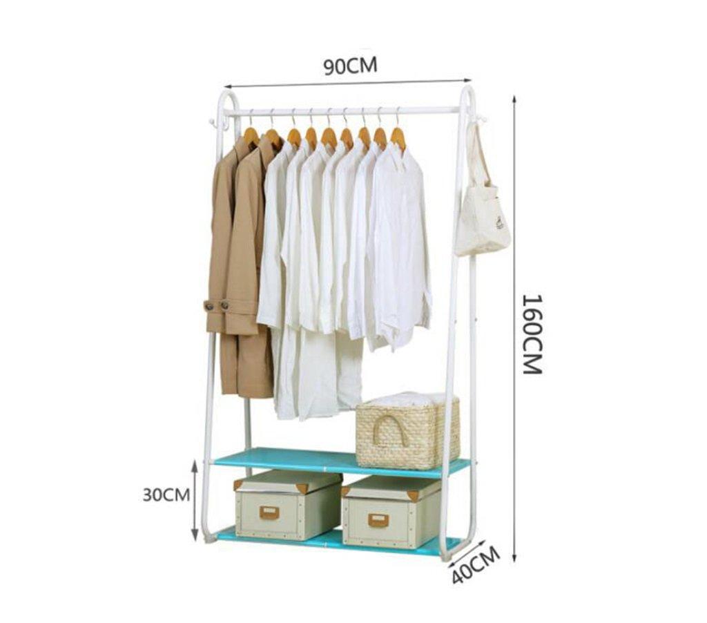 Hatstand AJZGF Coatrack Perchero Doble estantes Estante de Secado Interior y Exterior blanco/90 * 40 * 160cm