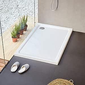 Sanita Plato de Ducha, Practic en acrílico 120 x 70 cm: Amazon.es: Hogar