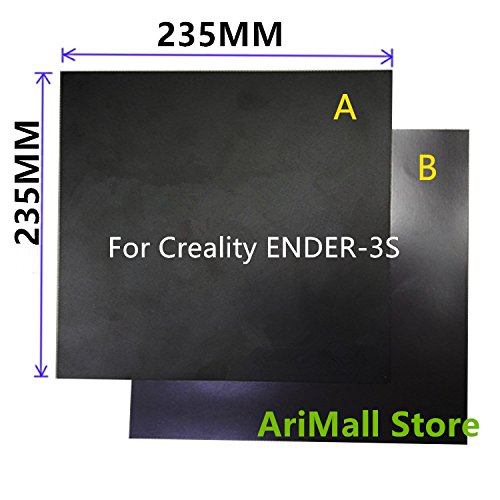 WillBest 1pcs Creality ENDER-3S Heatbed Magnetic Adhesive Sticker 235X235mm Flex Build Plate A+B pc Insulation Film kit by WillBest