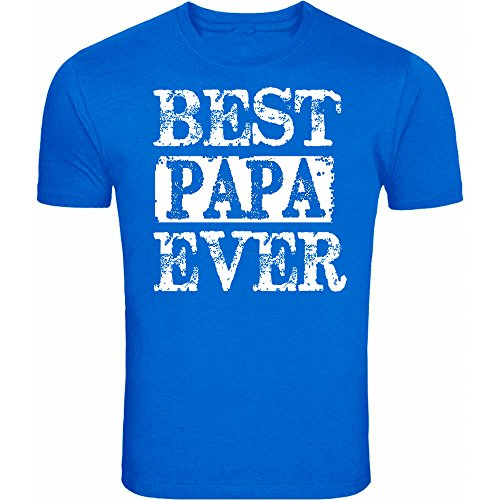 - fresh tees Best Papa Ever T-Shirt Father's Day Shirt (2X-Large, Royal Blue)