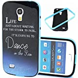 S4 Mini Case,Galaxy S4 Mini Case,Gift_Source [Dance on the Rain Pattern]Soft Silicone Bumper With Hard Plastic Back Cover Hybrid Impact Shockproof Case Cover for Samsung Galaxy S4 Mini i9190 (Not for S4)