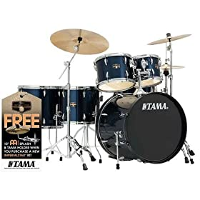 Tama Imperialstar 6-Piece Complete Drum Set with Meinl HCS Cymbals 3