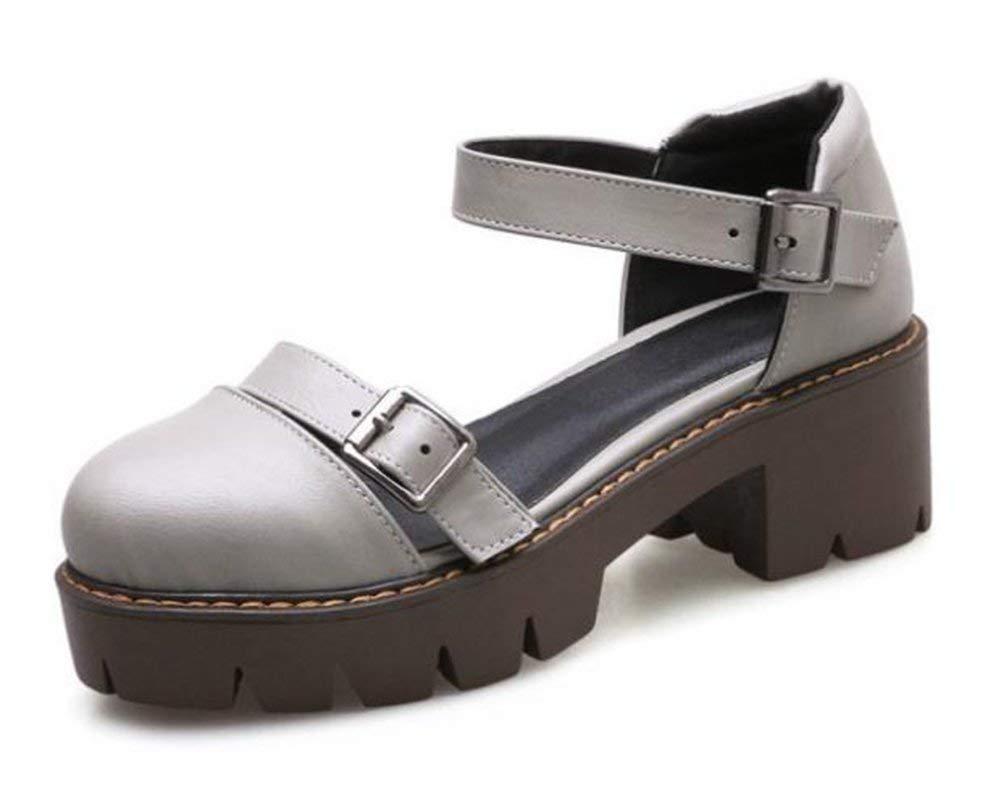 Fuxitoggo Hafen Schuhe oberflächlichen von Baotou (Farbe   Grau Größe   37)