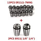 New 15pcs/set ER11 Precision Spring Collet Set For CNC Engraving Machine Lathe Mill Tool & Workholding