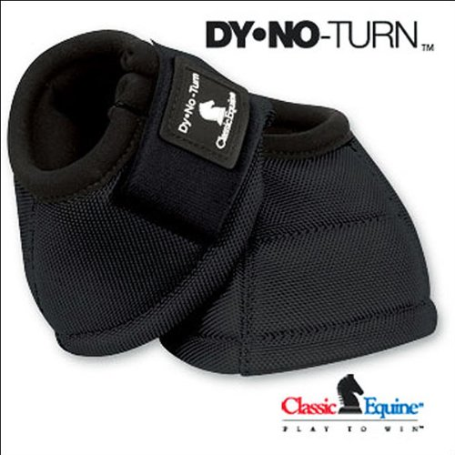 Classic Equine Dyno No-Turn Bell Boots Large Black