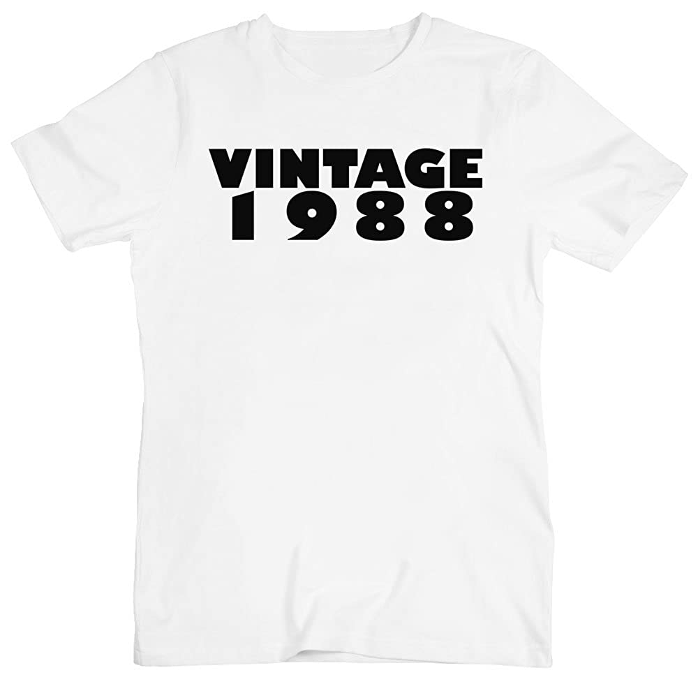 Vintage 1988 Design Mens T-Shirt Small White