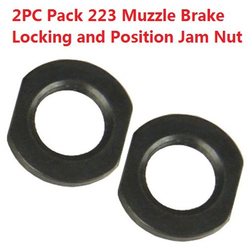FieldSport® 1/2x28 Thread Crush Washer Replacement Jam Nut For Muzzle Brake Locking and Position Adjustement, All Steel, Black Steel, 2PC Pack